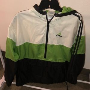 Adidas quarter zip windbreaker.